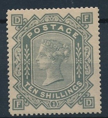 7824 Great Britain Victoria SCARCE 10 Sh Stamp very fine REGUM Anchor wtmk
