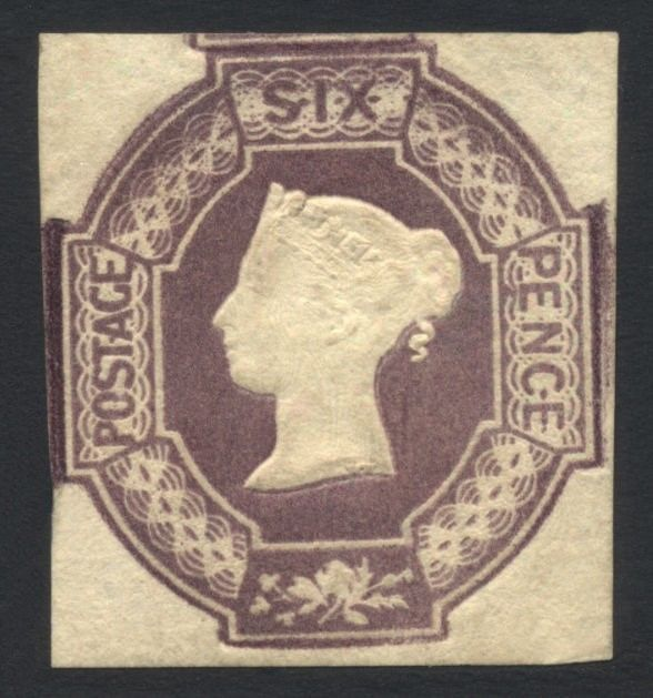 GB 184754 QV 6d SG58var Mint LH Cat val 18500 27750