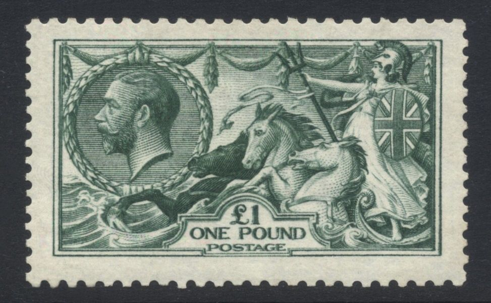 GB 1913 GV Waterlow Seahorse 1 SG SpecN723 Mint NH Cat val 4800 7200