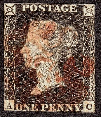 QV SG  1d Penny Grey Black  Plate 11  Eleven VERY SCARCE RED MX CAT 40000